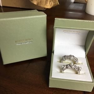 Judith Ripka Sterling Silver stackable ring